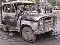 В Чечне взорвана милицейская машина. Фото с сайта grozny-inform.ru