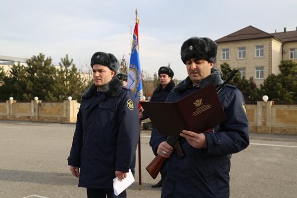 В УФСИН России по Чеченской Республике прошел ритуал принятия присяги молодыми сотрудниками