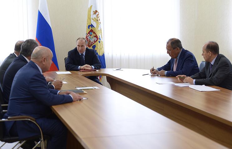 Владимир Путин провел совещание Совбеза