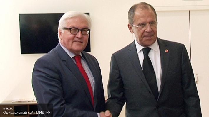Руководителя МИД РФ иГермании обсудили обстановку вСирии и вгосударстве Украина