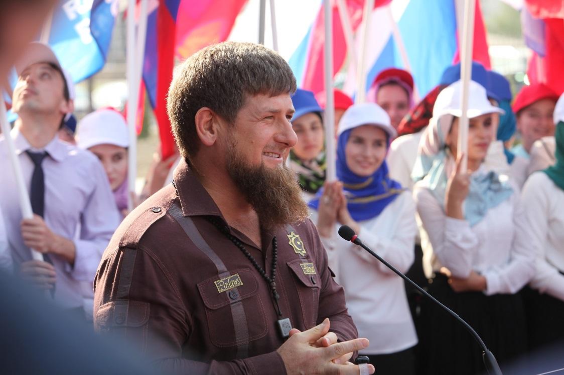 Рамзан Кадыров в с. Беной провел общую тренировку сДмитрием Ливановым