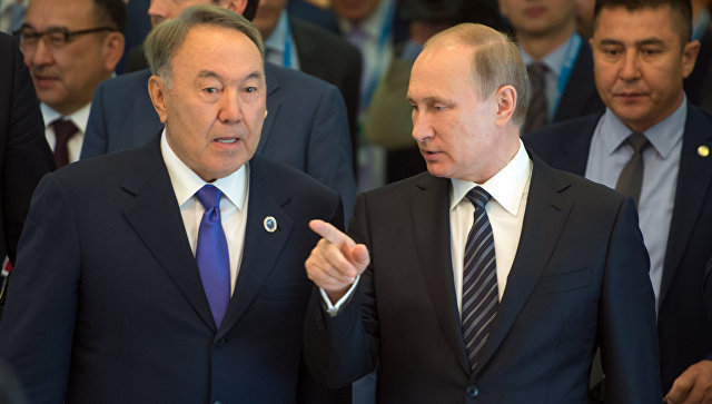 Путин и Назарбаев обсудят 16 августа в Сочи сотрудничество в сфере торговли и культуры