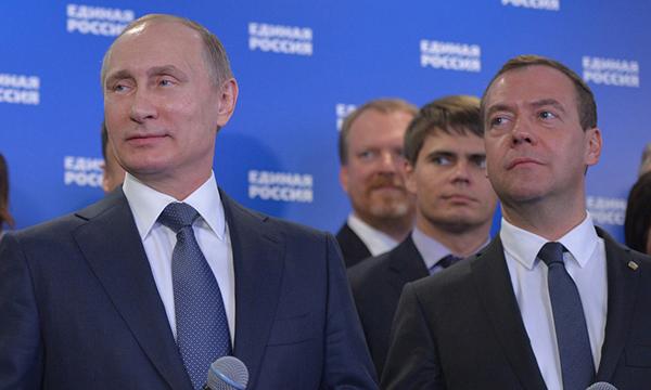Путин прибыл визбирательный штаб «Единой России»