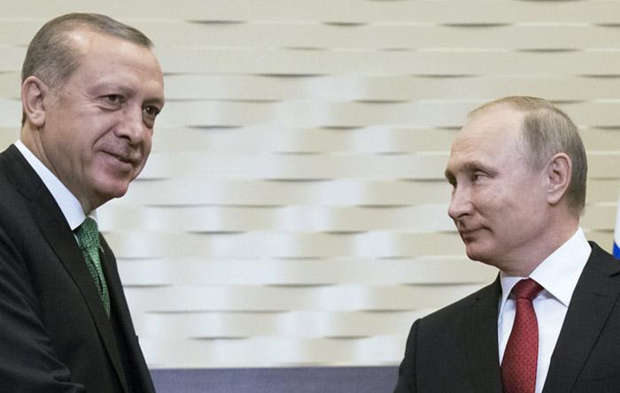 Путин пошутил всамом начале встречи сЭрдоганом