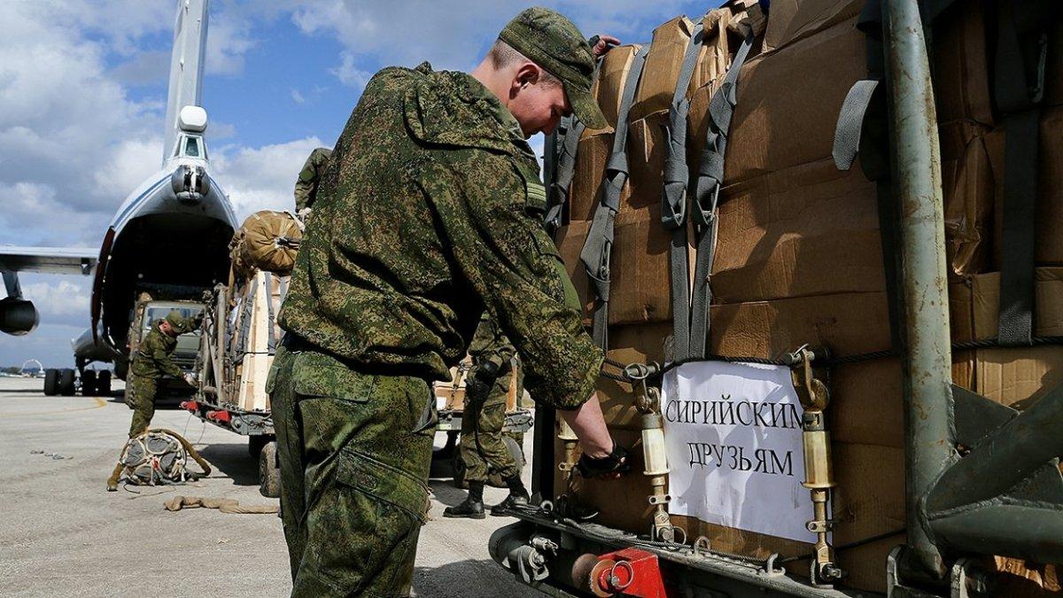 ВоенныеРФ передали сирийским беженцам гуманитарную помощь