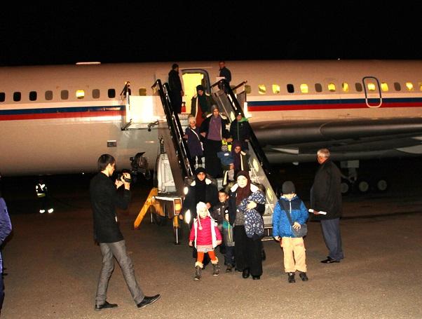Среди вывезенных изСирии вГрозный людей оказались четверо детей изКазахстана