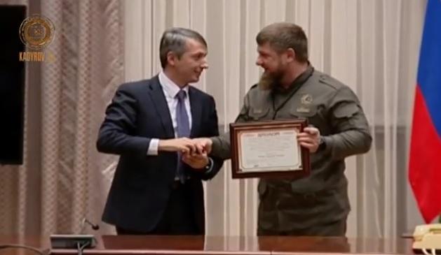 Кадыров получил золотую медаль имени Блохина завыдающиеся работы вобласти онкологии
