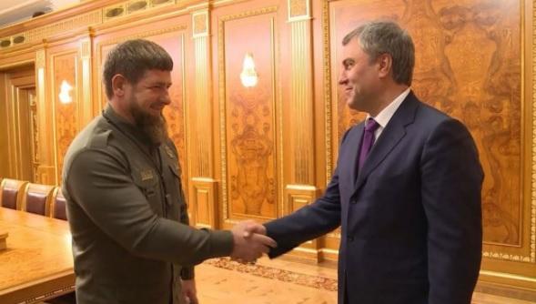 Кадыров навстрече сПутиным оповестил оразвитии Чечни