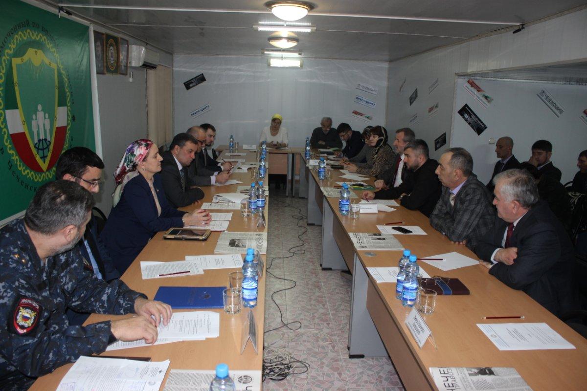 В офисе чеченского омбудсмена обсудили организацию выборов президента России в Чеченской Республике