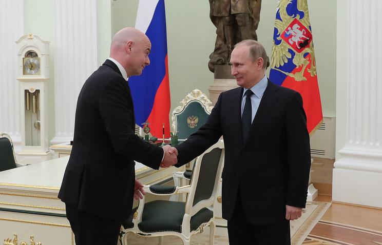 Путин вчетверг вСочи обсудит подготовку кЧМ