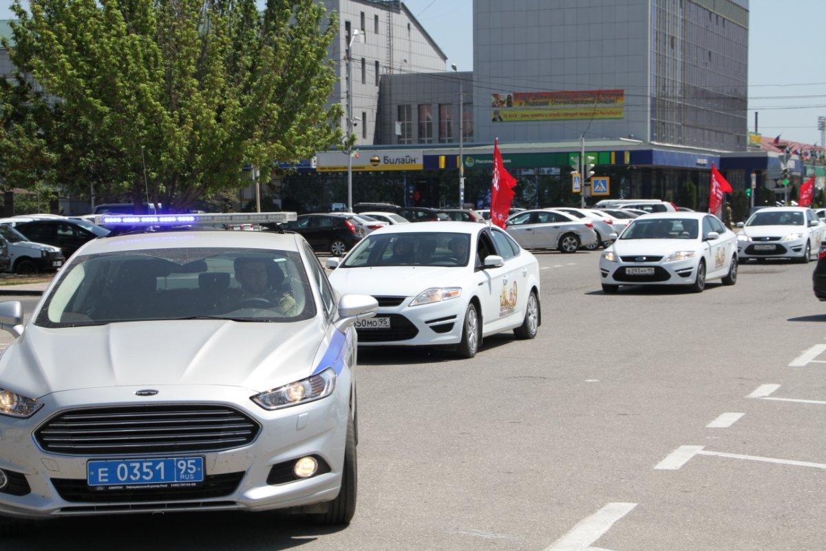 В Грозном прошел автопробег, посвященный Дню Победы