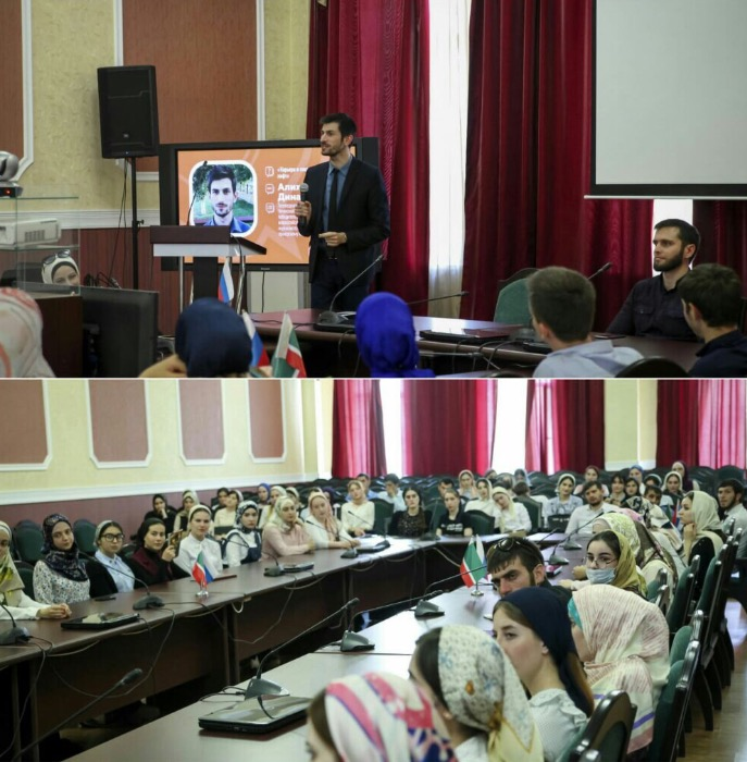 Минмолодежи ЧР организовало встречу студентов с Алиханом Динаевым
