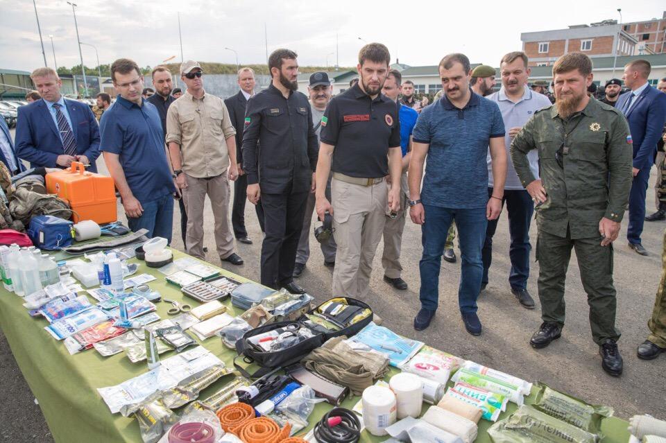 Глава Чечни и  В. Лукашенко посетили Российский университет спецназа