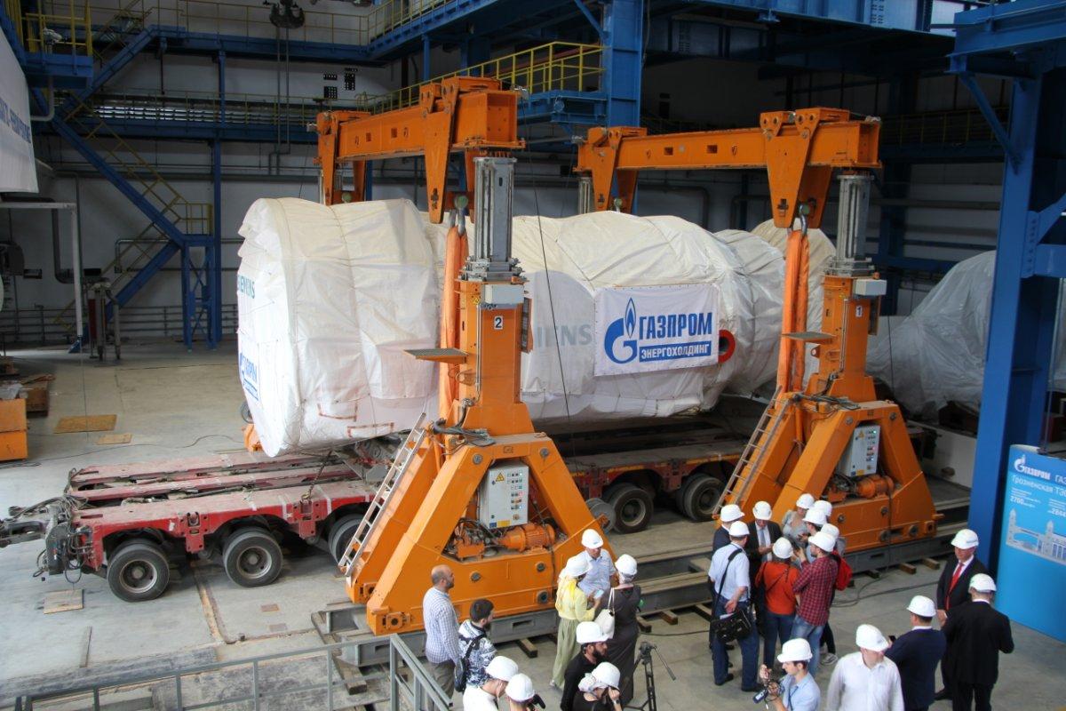 Siemens установил вГрозный основное оборудование для строящейсяТС