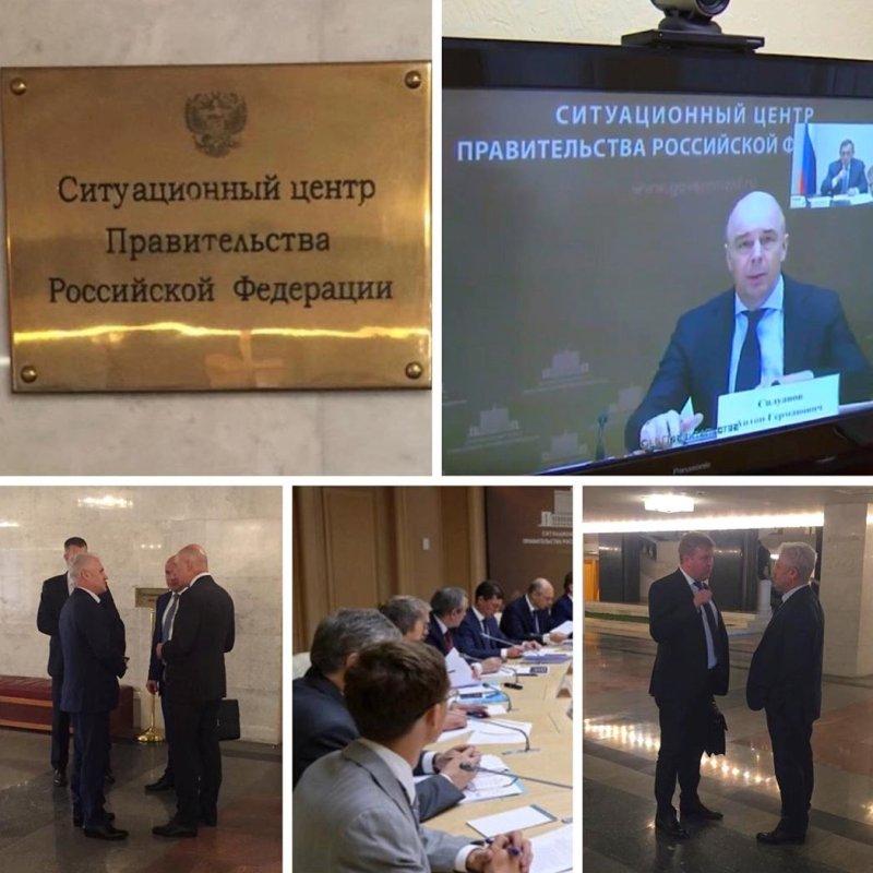 ЧЕЧНЯ. М. Хучиев принял участие в совещании в Ситуационном центре Правительства РФ